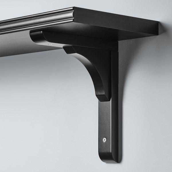 BERGSHULT / RAMSHULT Nástenná polica, čiernohnedá, 80x20 cm