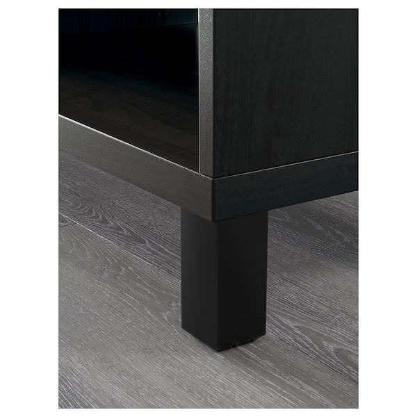 BESTÅ Skrinka na TV, čiernohnedá, 120x40x48 cm