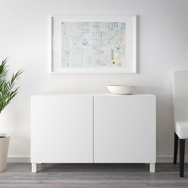 BESTÅ úložná zostava s dvierkami biela/Lappviken biela 120 cm 40 cm 74 cm