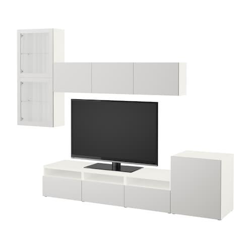 IKEA BESTÅ Úložné tv riešenie/sklené dvierka