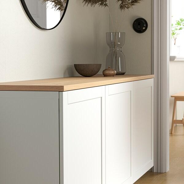 BESTÅ Vrchný panel, dubová dyha, 180x42 cm