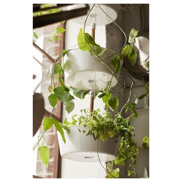 BITTERGURKA Závesný kvetináč, biela