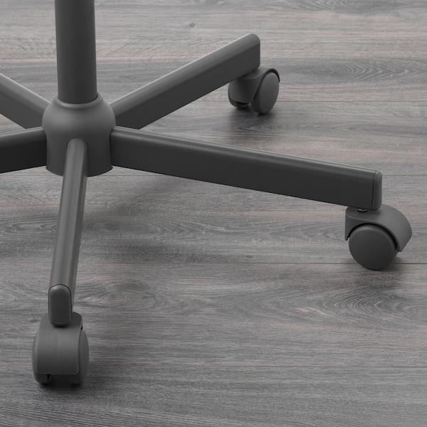 BLECKBERGET otočná stolička Idekulla tmavosivá 110 kg 68 cm 68 cm 87 cm 47 cm 43 cm 46 cm 57 cm