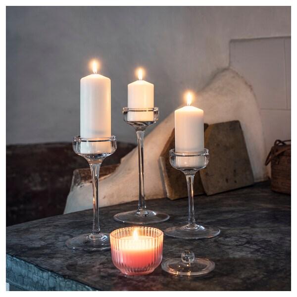 BLOMDOFT vonná sviečka v skle hrachor/svetlooranžová 9 cm 9 cm 20 hr