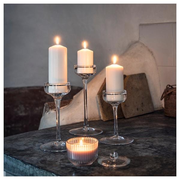 BLOMDOFT Vonná sviečka v skle, Gladiolus/sivá, 9 cm