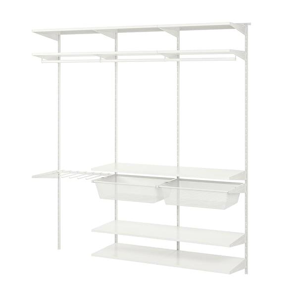 BOAXEL 3 sekcie, biela, 182x40x201 cm