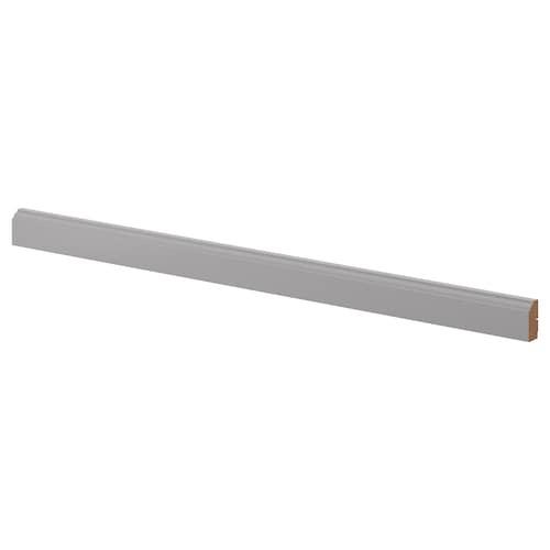 BODBYN deko lišta tvarovaná sivá 221 cm 6 cm 2.8 cm