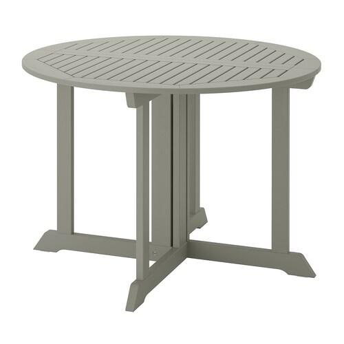 BONDHOLMEN stôl vonkaj sivá morená 74 cm 108 cm