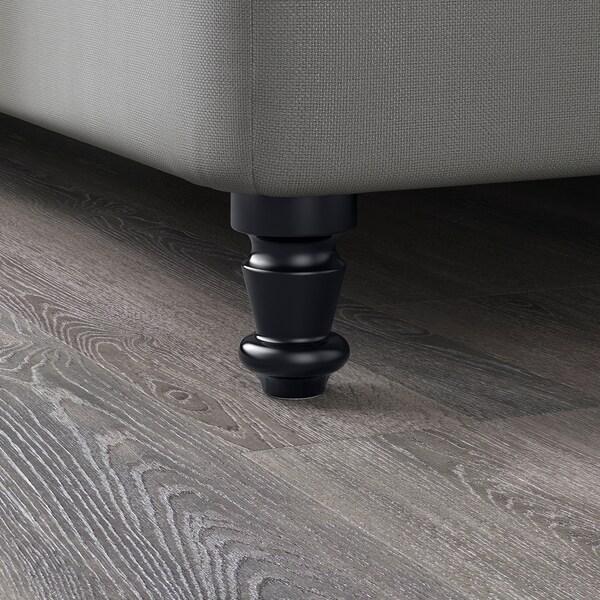 BRATTVÅG Noha, čierna, 10 cm