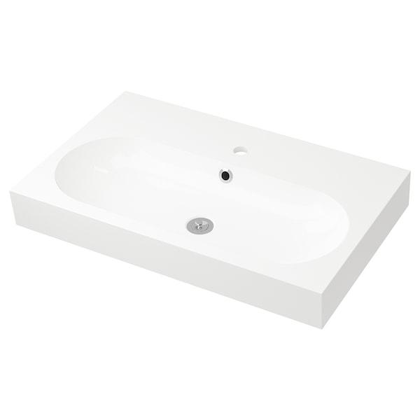 BRÅVIKEN Umývadlo, biela, 80x48x10 cm