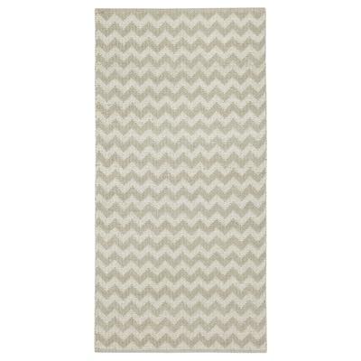 BREDEVAD Koberec, hladko tkaný, kľukatý vzor béžová, 75x150 cm