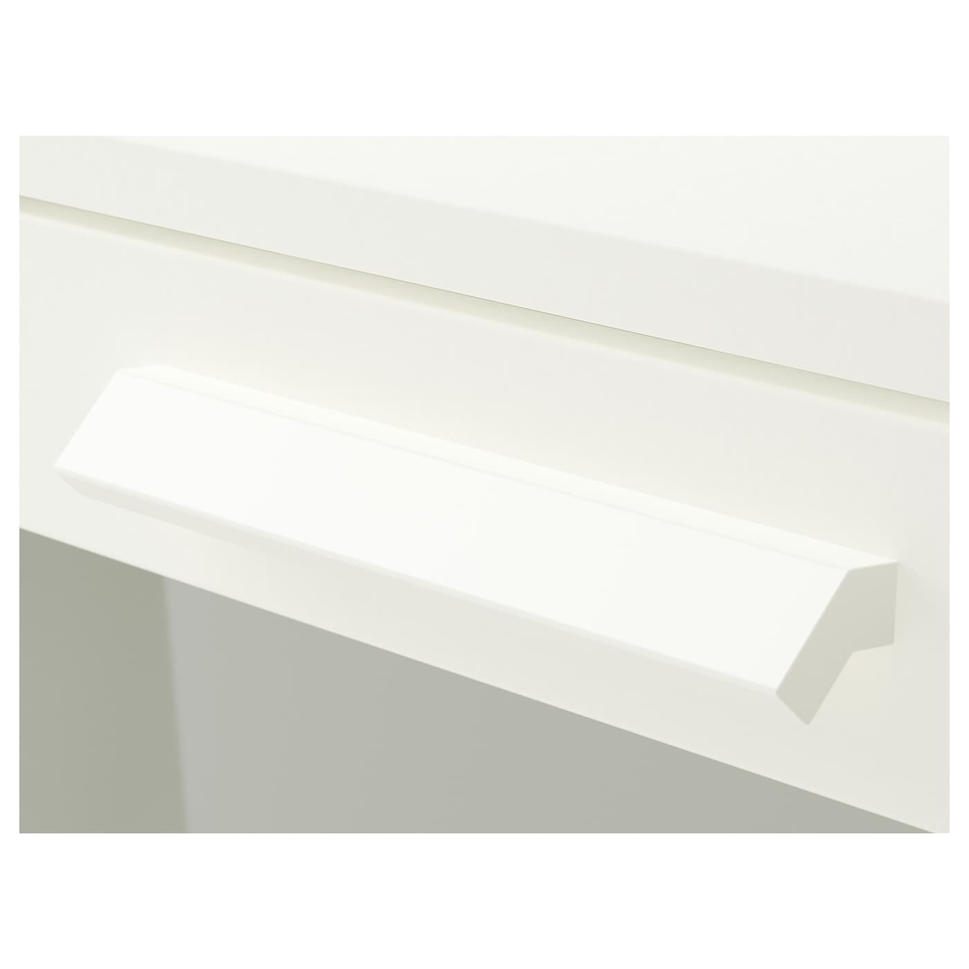 BRIMNES Komoda s 3 zásuvkami, biela/matné sklo, 78x95 cm