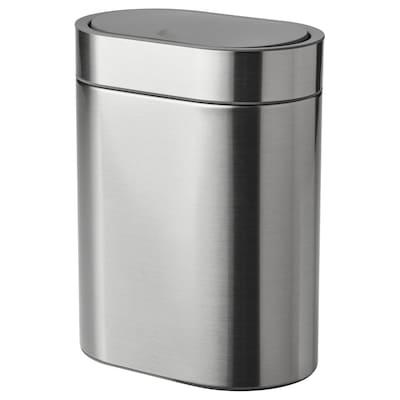 BROGRUND Odpadkový kôš s tlačidlom, nehrdzavejúca oceľ, 4 l