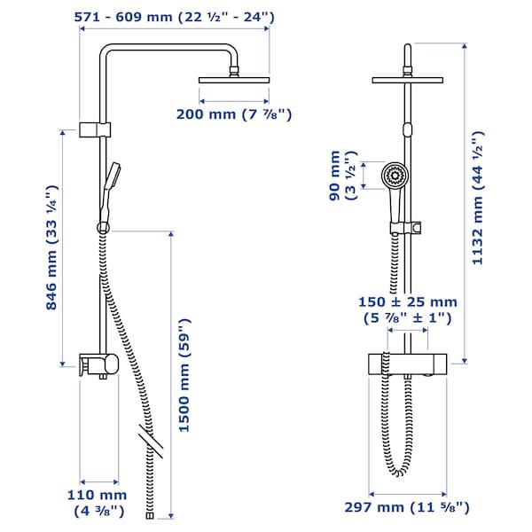 BROGRUND Sprchová súprava s termost batériou, pochrómované