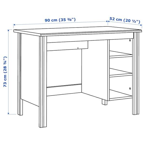 BRUSALI stôl biela 90 cm 52 cm 73 cm