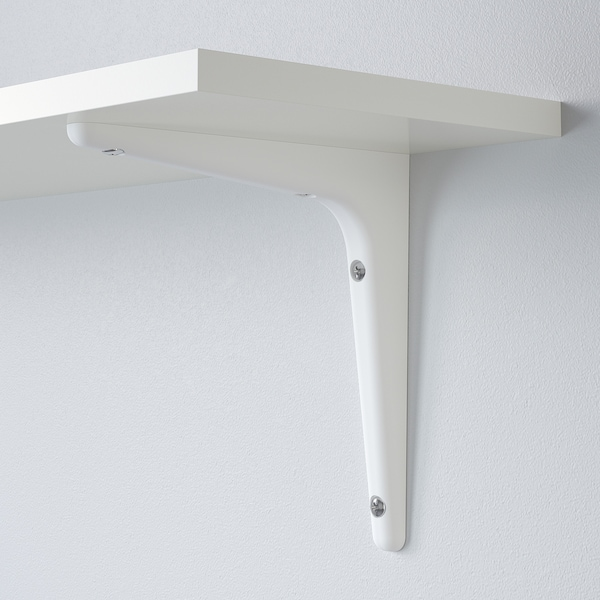 BURHULT / SIBBHULT Nástenná polica, biela/biela, 59x20 cm