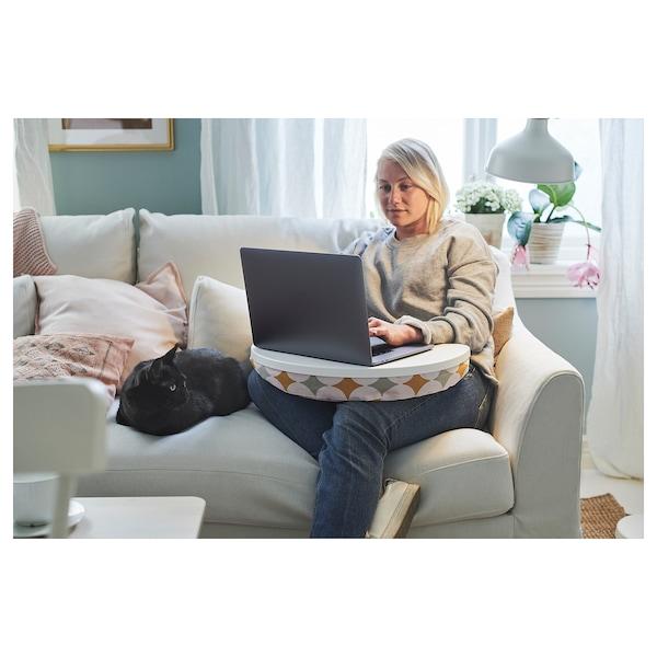 BYLLAN podložka pod laptop Yttered viacfarebný/biela 51 cm 38 cm 8 cm