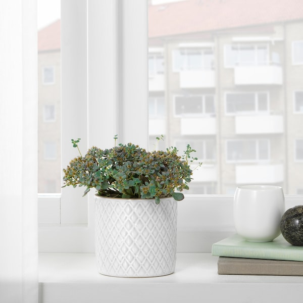 CHIAFRÖN kvetináč biela 10 cm 11 cm 9 cm 10 cm