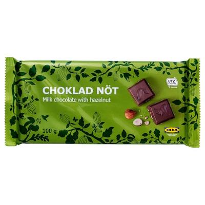 CHOKLAD NÖT Mlieč. čokoláda s liesk. orieškami, Certifikát UTZ
