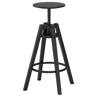 DALFRED Barová stolička, čierna, 63-74 cm