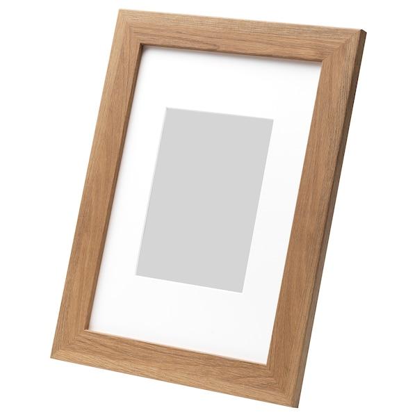 DALSKÄRR Rám, drevený efekt/svetlohnedá, 21x30 cm