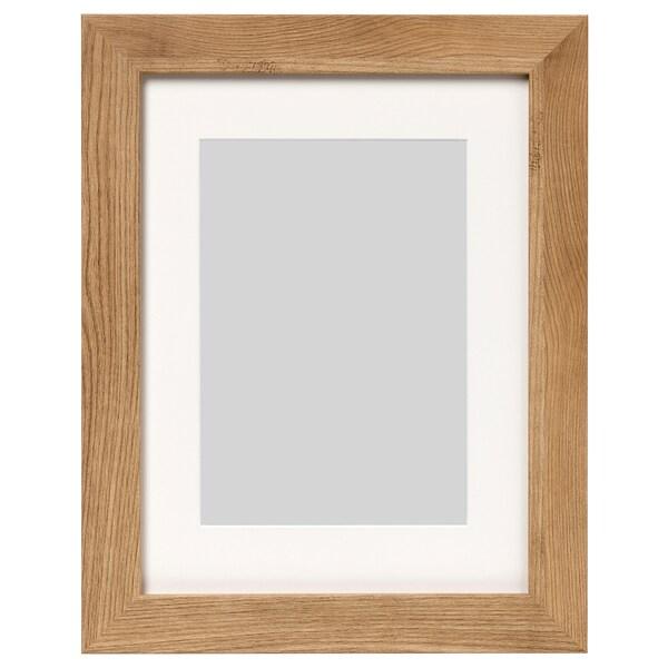 DALSKÄRR Rám, drevený efekt/svetlohnedá, 30x40 cm