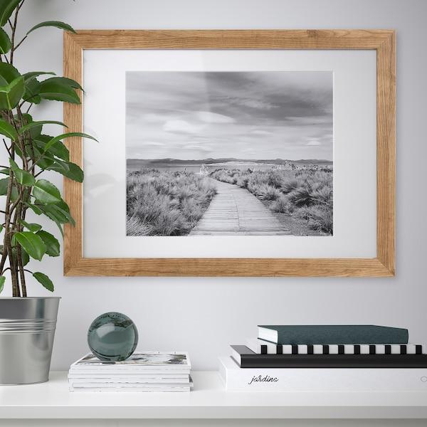 DALSKÄRR Rám, drevený efekt/svetlohnedá, 50x70 cm