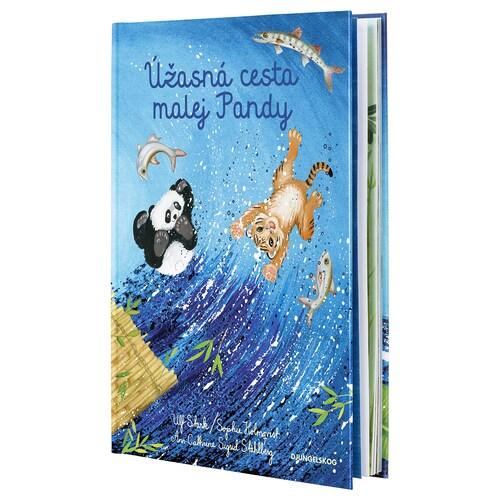 DJUNGELSKOG kniha Úžasná cesta malej Pandy 32 kusov 22.2 cm 31.4 cm