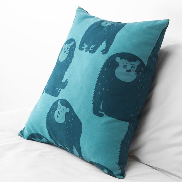 DJUNGELSKOG vankúš opica/modrá 50 cm 50 cm 350 g 490 g