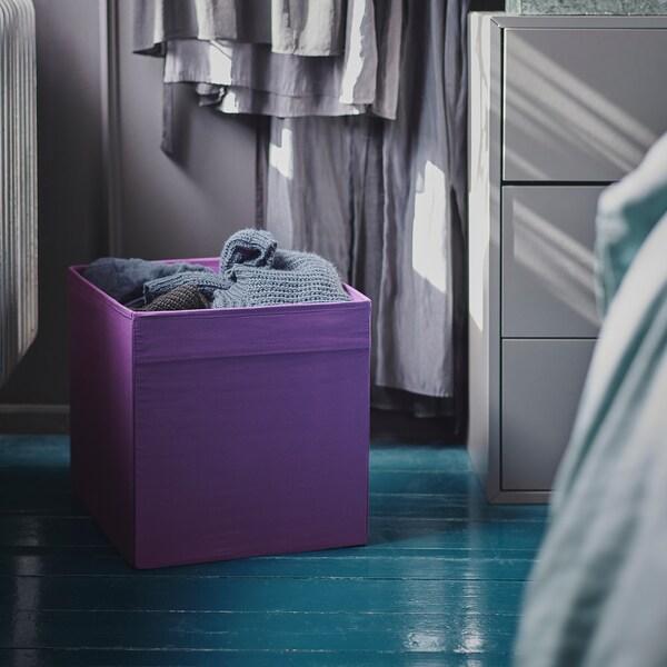 DRÖNA škatuľa fialová 33 cm 38 cm 33 cm