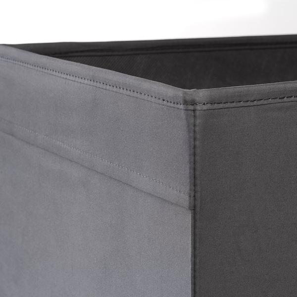 DRÖNA Škatuľa, tmavosivá, 33x38x33 cm