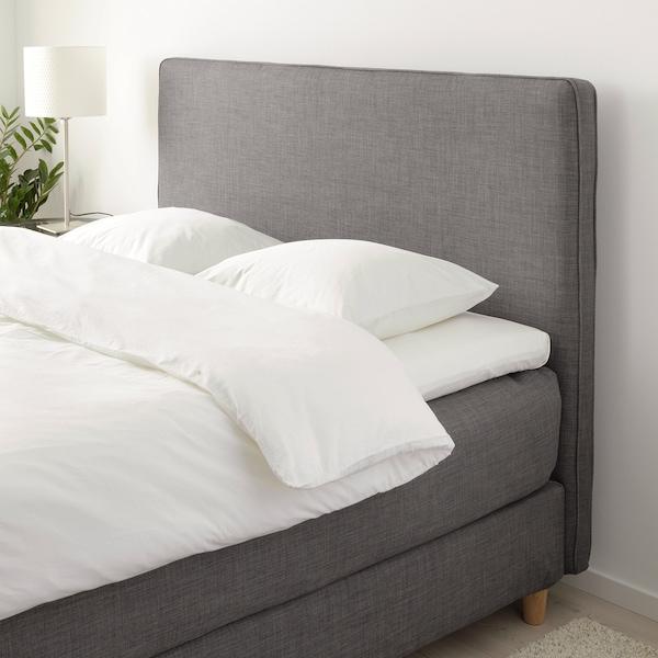 DUNVIK Čalúnená posteľ, Hövåg tvrdý/mimoriadne tvrdý/Tuddal tmavosivá, 180x200 cm