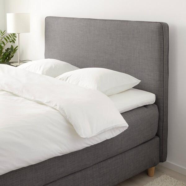 DUNVIK Čalúnená posteľ, Hövåg veľmi tvrdý/Tussöy tmavosivá, 180x200 cm