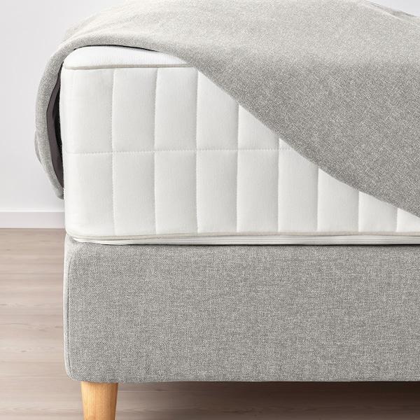 DUNVIK Čalúnená posteľ, Vatneström tvrdý/Tistedal GUNNARED béžová, 180x200 cm