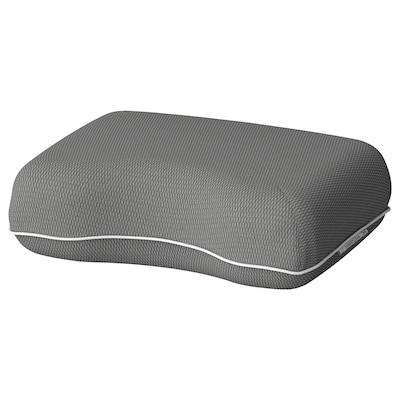 DVÄRGTULPAN Cestovný vankúš, tmavosivá/melírovaná ergonomický, 30x40 cm