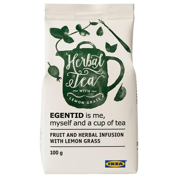 EGENTID Ovocný a bylinkový čaj, citrónová tráva/Certifikát UTZ, 100 g