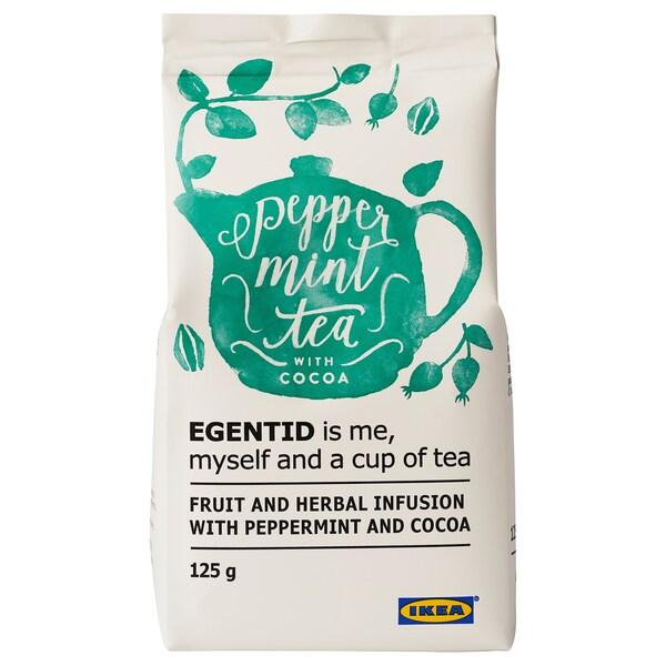 EGENTID Ovocný a bylinkový čaj, mäta/kakao/Certifikát UTZ, 125 g