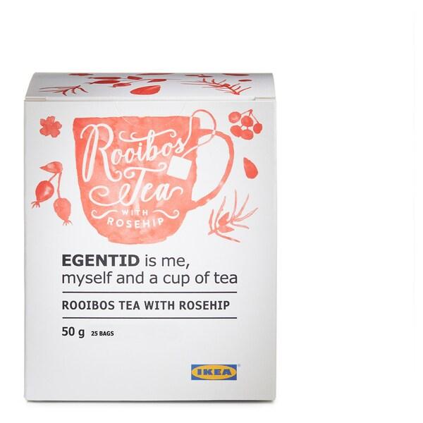 EGENTID Rooibos čaj, šípka/Certifikát UTZ, 50 g