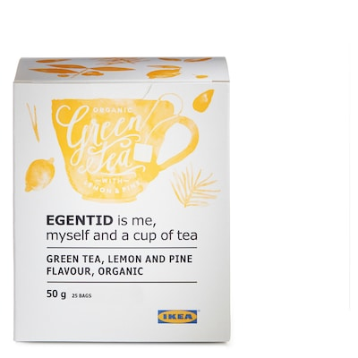 EGENTID Zelený čaj, citrón/borovica/Certifikát UTZ/organické, 50 g