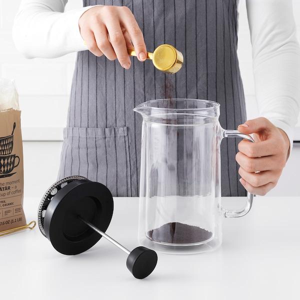 EGENTLIG kávovar dvojstenný/číre sklo 21 cm 0.9 l