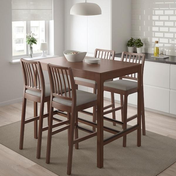 EKEDALEN Barová stolička, hnedá/Orrsta svetlosivá, 75 cm