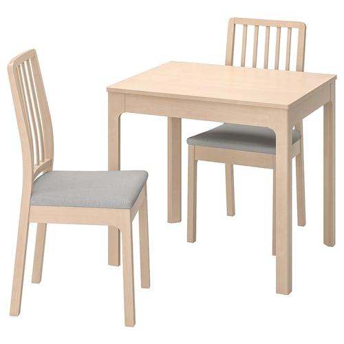 EKEDALEN / EKEDALEN stôl a 2 stoličky breza/Orrsta svetlosivá 80 cm 120 cm