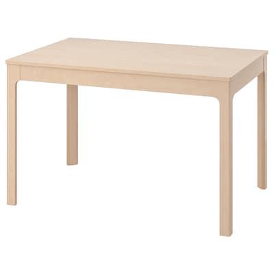 EKEDALEN Rozkladací stôl, breza, 120/180x80 cm