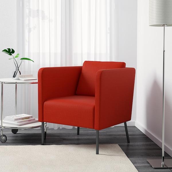 EKERÖ kreslo Skiftebo oranžová 70 cm 73 cm 75 cm 57 cm 46 cm 43 cm