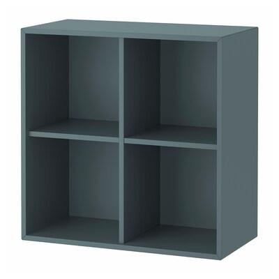 EKET Skrinka so 4 priehradkami, sivo-tyrkysová farba, 70x35x70 cm