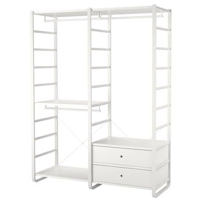 ELVARLI 2 sekcie, biela, 165x55x216 cm