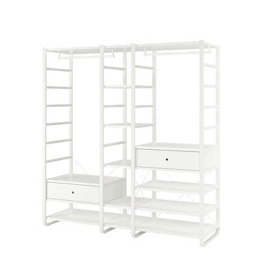 ELVARLI 3 sekcie, biela, 205x55x216 cm