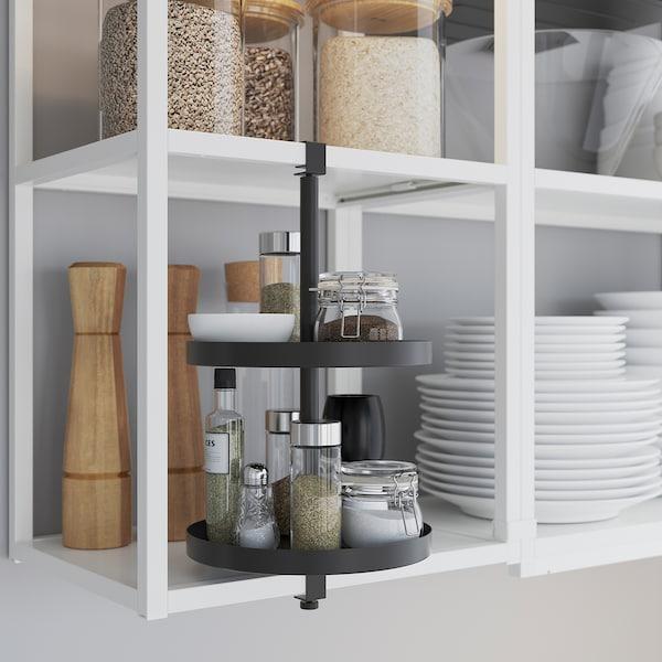 ENHET Rohová kuchyňa, biela/dubový efekt