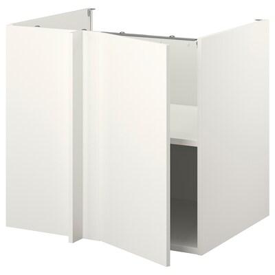 ENHET Rohová skrinka, biela/biela, 107x69x75 cm