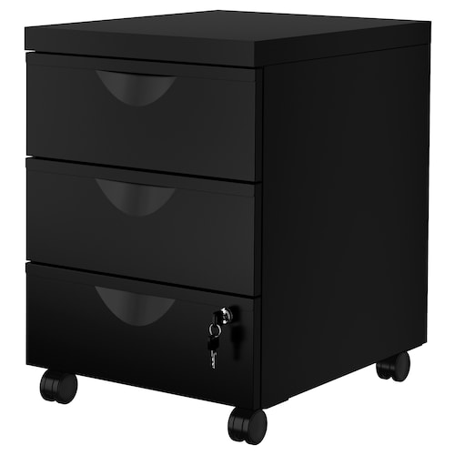 IKEA ERIK Skrinka s 3 zásuvkami/kolieska